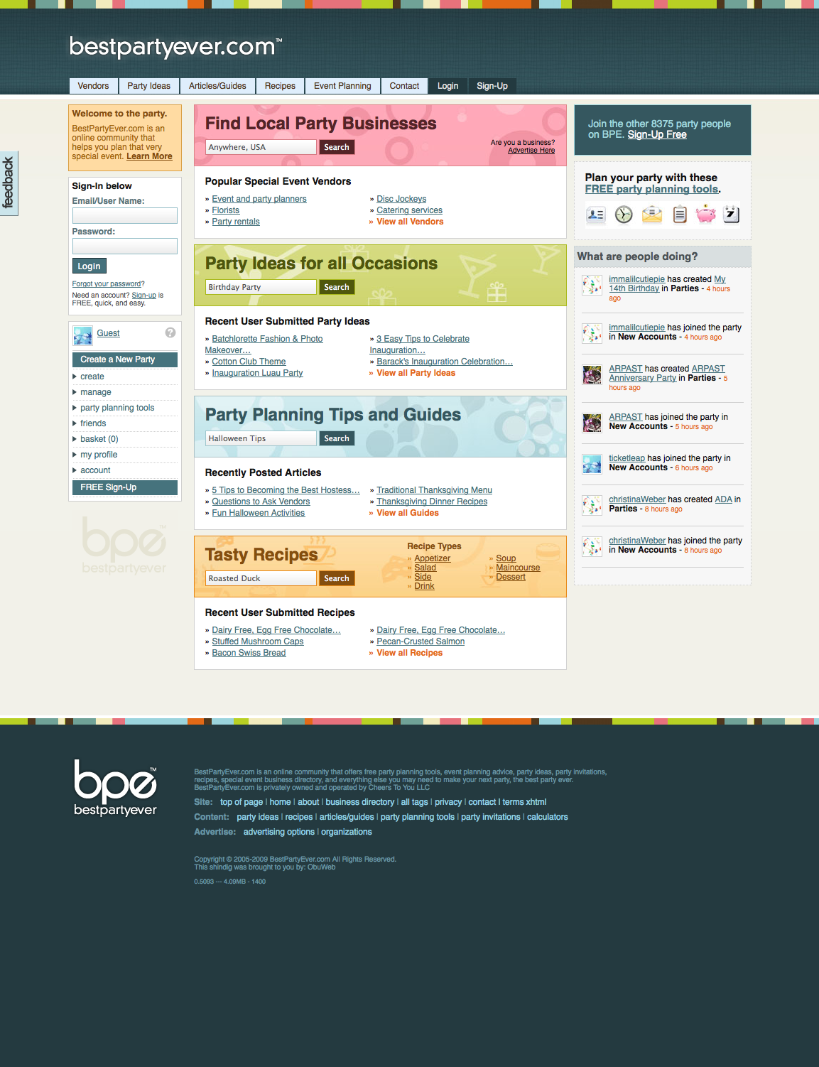 Web design blog for Website planning tool